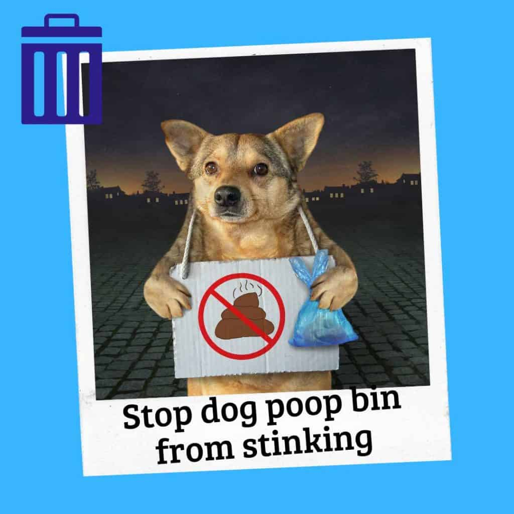 how to keep dog poop from smelling up garage