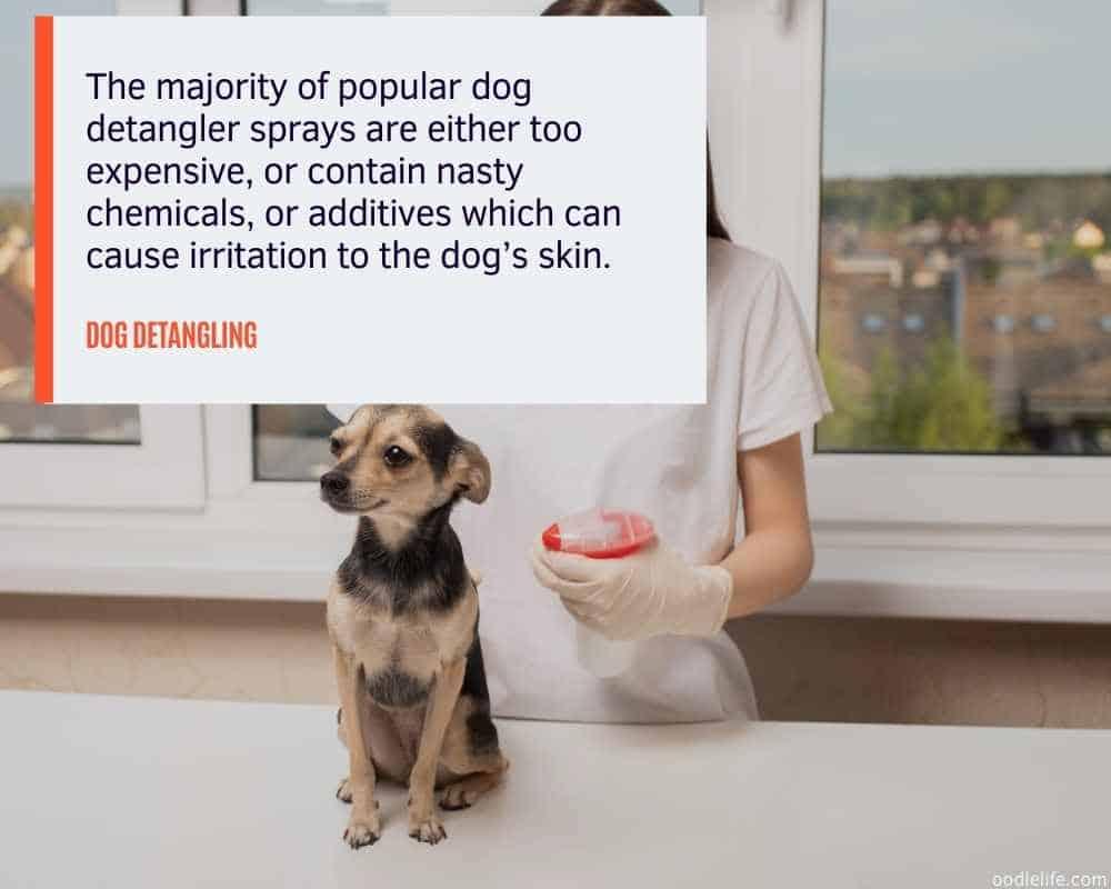 natural dog detangler spray